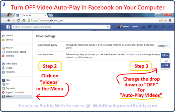 Image 02 - How to Turn Off Facebook Video Auto-Pay